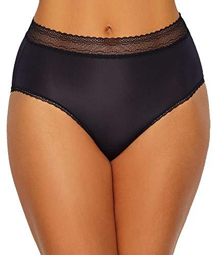 Vanity Fair Women's Flattering Lace Brief Panty 13281, Black, Large/7