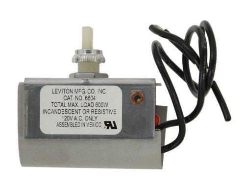Leviton 6604-2 600W Incandescent Dimmer, Single Pole, Plastic, Free Ends Stripped 3/4-Inch (Watt Incandescent Single Pole 600)