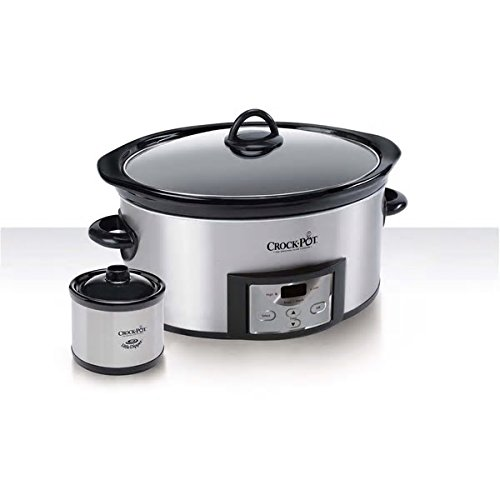 Big Family Cooking Stay Or Go Stainless Steel 6-Quart Slow Cooker With Dipper Nice Large Capacity Wonderful Simple Kitchen Digital Crock Pot Appliance Delicious Prepared Meals Beautiful Sturdy Design by PH