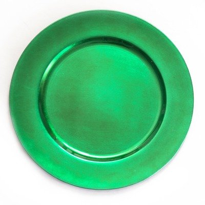 Color Valley Green Set of 4 13 Charger Plate
