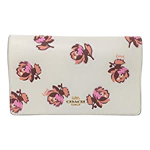 Coach Hayden Foldover Crossbody Clutch With Floral Print Chalk Floral 79455
