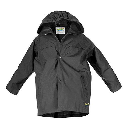 Splashy Nylon Children's Rain Jacket (11/12, Black)