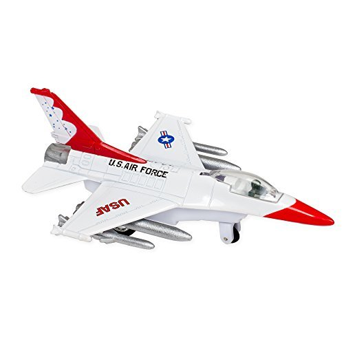 US Air Force USAF F-16 Falcon 6.5 Inch Replica Die Cast Toy - White (Usaf F-16)