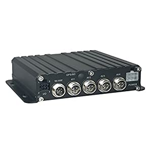 TrackSec 4 Channel Mini HD 720P Mobile DVR Vehicle Camera System Car Black Box, Support AHD/TVI/CVI/Anolog 4-in-1 Video Types Input, Support Reverse Assistance and SD Card Backup