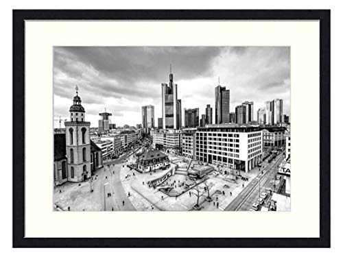 OiArt Art Print Wall Picture (20x14 inch) - Citiyscape Frankfurt Hauptwache Towers Town Sky (Hauptwache Frankfurt)