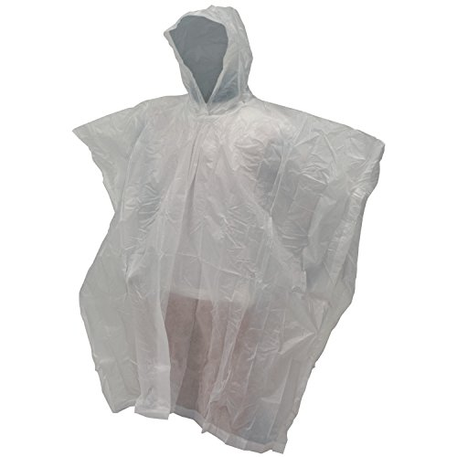 Frogg Toggs Emergency Poncho, Clear, One Size