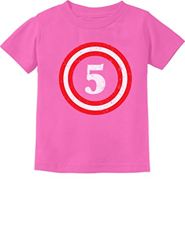 Captain 5th Birthday - Gift for Five Years Old Toddler/Infant Kids T-Shirt 5/6 Pink -