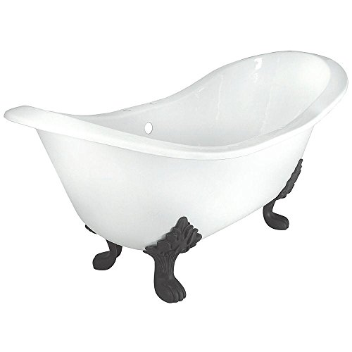 Elizabethan Classics 70 in. Rim-Tapped Double Slipper Tub ()