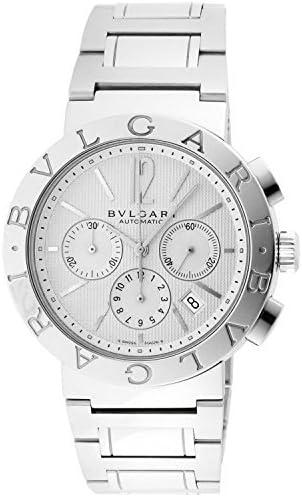 Bvlgari Bvlgari blanco Dial Cronógrafo Automático Mens Reloj bb42wssdch: Bvlgari: Amazon.es: Relojes