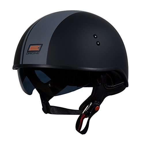 Small Helmet Race (ORIGINE O535 Vista Half Helmet with Race Stripe (Flat Grey Gara, Small))