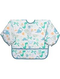 Sleeved Bib/Baby Bib/Toddler Bib/Smock, Waterproof, Washable, Stain and Odor Resistant 6-24 Months - Dinosaur