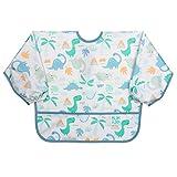 Bumkins Sleeved Bib/Baby Bib/Toddler Bib/Smock, Waterproof, Washable, Stain and Odor Resistant 6-24 Months - Dinosaur