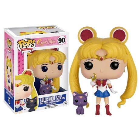 (Funko Pop! Animation Sailor Moon #90 with Moon Stick and Luna (Exclusive))