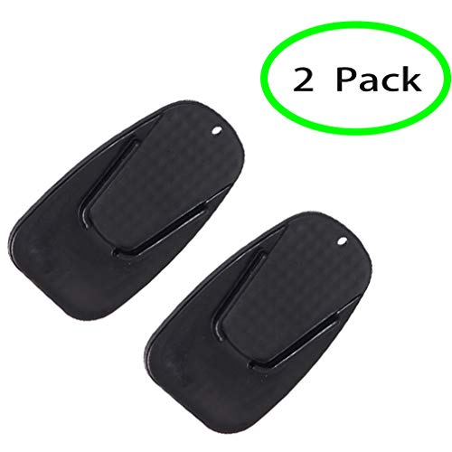 2 Pack Motorcycle Kickstand Pad, Side Stand Support Plate Add Stability Kick Stand Coaster for Parking on Hot Pavement, Grass, Soft Ground and More (Black)