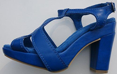 Sandalette aus Leder von chillany Blau