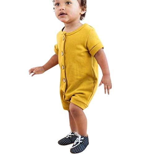 iOPQO Halloween Rompers for Kids, Newborn Baby Solid Button Body Suit Jumpsuit