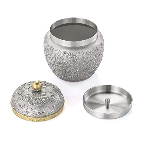 Royal Selangor Hand Finished Straits Expression Collection Pewter Peony Tea Caddy by Royal Selangor (Image #4)
