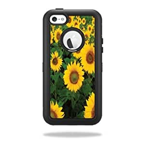 Protective Vinyl Skin Decal Cover for OtterBox Defender iPhone 5C Case Sticker Skins Sunflowers