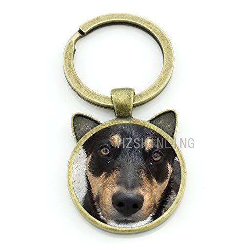 Key Chains - German Shepherd Keychain Newest Trendy Key Chain Keyring Car Bags Key Holders Men Women Dog Lover Presents Jewelry CN738 - by Mct12-1 PCs