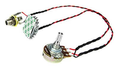 """Cigar Box Guitar Parts: """"Cap-o-Tone"""" Pre-Wired Bottle Cap Piezo Pickup Harness with Volume Control"""