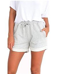 Famulily Women's Summer Beach Shorts Casual Comfy Pajama Shorts with Drawstring