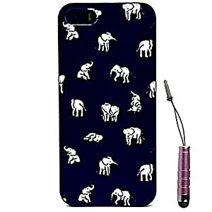 GJY Smart Indian Elephants Pattern Case & Touch Pen for iPhone 4/4S