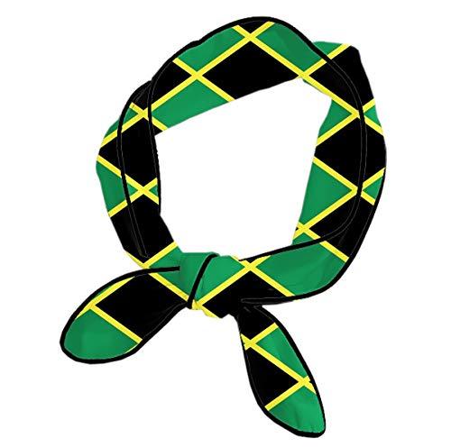 - Lightweight Girl's Headbands Headwraps Accessories, Fashion & Sweet Neckerchief Jamaican Flag Stripe Caribbean Island Design Kerchief for Party Meeting Daily Travel Decoration