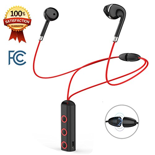 Bluetooth Headphones in Ear Buds Wireless Sports Earphones Necklace Headsets HD Stereo Sweat-Proof with Mic Noise Canceling Call Vibrate