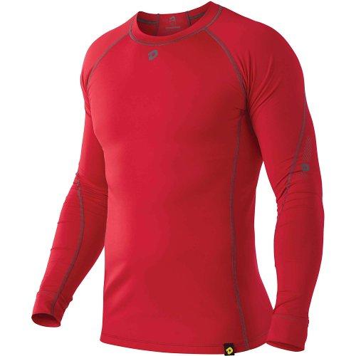 DeMarini Men's Comotion Winterball Long Sleeve Shirt, Scarlet, XX-Large