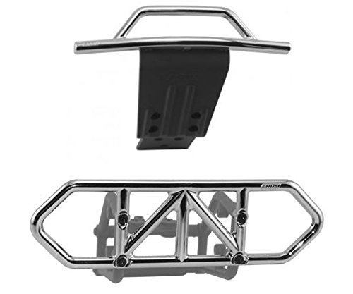 RPM Traxxas Slash 4X4 Chrome Front and Rear Bumper Kit 80122