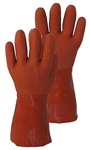 Wonder Gloves Seamless 100-Percent Cotton Liner Vinyl Glove, Medium, Terra Cotta by Wonder Gloves