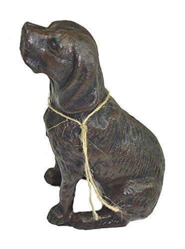 Lulu Decor, Cast Iron Dog Door Stopper, Sculpture, Dog Statue color antique black, 4.5 lb (CI62AB-CH) from LuLu