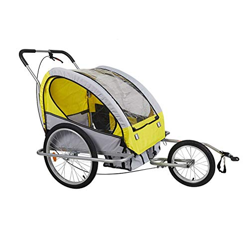 PG-One Pet Bicycle Trailer, Dog Racing Trolley, Dog Bicycle Trolley and Dog with Suspension for Pet Stroller,Amarillo,M,Estados Unidos ()