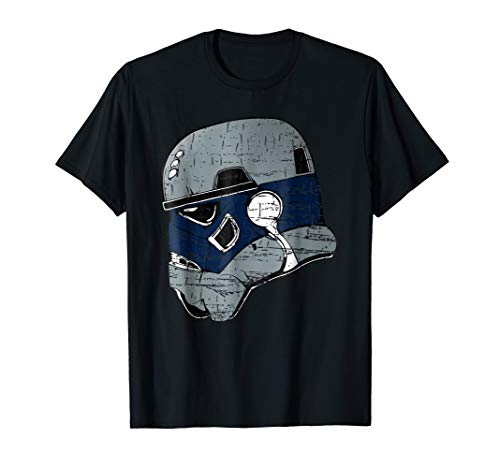 DALLAS TROOPER HELMET - POPULAR DISTRESSED FOOTBALL (Dallas Cowboys Football T-shirt)