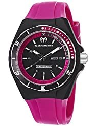TechnoMarine Unisex 110013 Cruise Sport 3 Hands Black and Pink Dial Watch
