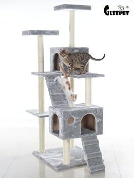 Gleepet GP78700 - Árbol con casa y escaleras para gatos grandes: Amazon.es: Productos para mascotas