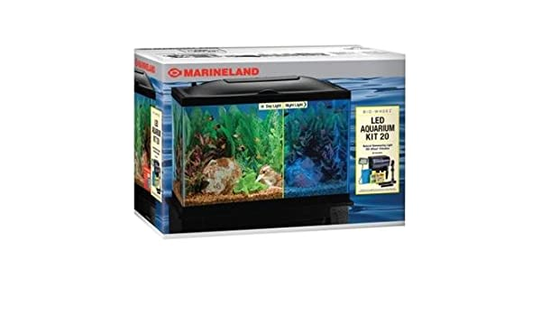 Marineland AMLPFK20B Acuario de Biowheel con luz LED, 20 galones: Amazon.es: Productos para mascotas