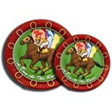 HORSE RACING DESSERT PLATES DAY AT THE RACES by Caufield's