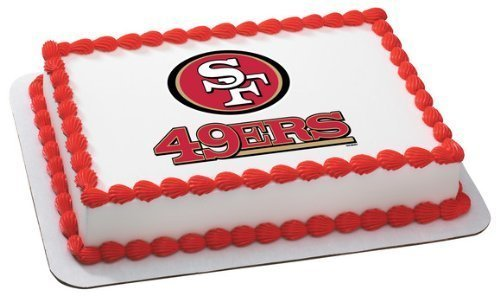 1-X-NFL-San-Francisco-49ers-Edible-Cake-Image-Topper-by-DecoPac