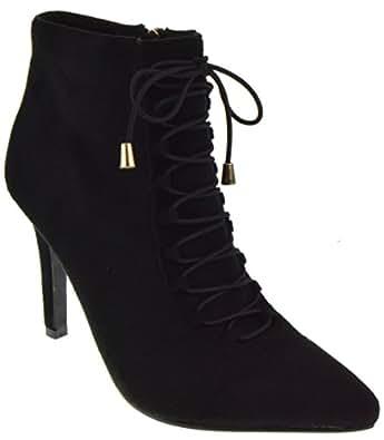 Forever Karissa 03 Womens Stiletto Heel Buckle Ankle Booties Black 5.5 1d0ec7b42