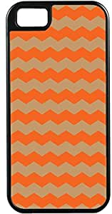 iPhone 4 Case iPhone 4S Case Cases Customized Gifts Cover Zigzag Wave Design Orange and Taupe - Ideal Gift