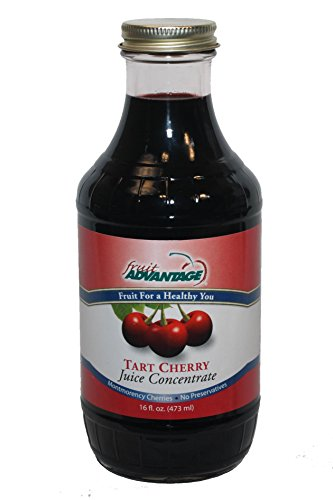 Montmorency Tart Cherry Juice Concentrate 16oz Premium Glass Bottle of 100% Pure Montmorency Michigan Grown Tart Cherries, No-Added Sugar, Preservative-Free, Sediment-Free.