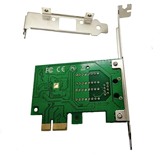 Realtek Chipset Gigabit PCI Express Ethernet Network Interface Card with  Low Profile Bracket (No Software))