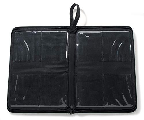 "Darice Embossing Folder Organizer - Holds 40, 4.25""x5.75"" Folders - Black Nylon Zippered Case with 40 Storage Pockets - Keep Embossing Folders Neat, Organized, Protected, 14.25""x10""x1.75"""