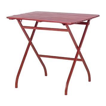 Balkonhängetisch ikea  IKEA Mälarö - Tabelle, im Freien, rot - 80x62 cm: Amazon.de: Küche ...