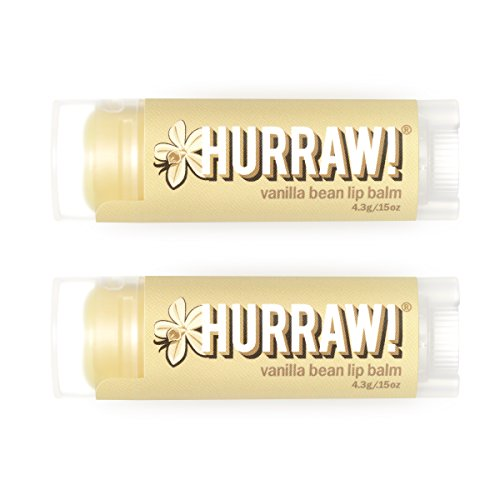 (Hurraw Vanilla Bean Lip Balm, 2 Pack)