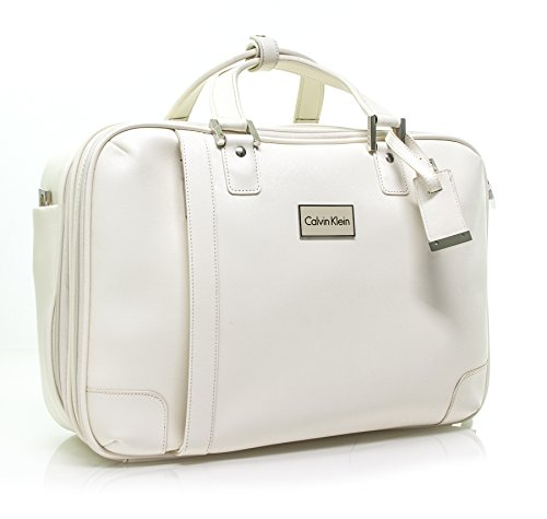 Calvin Klein Cold Spring Case Laptop Briefcase, Cream, One Size by Calvin Klein