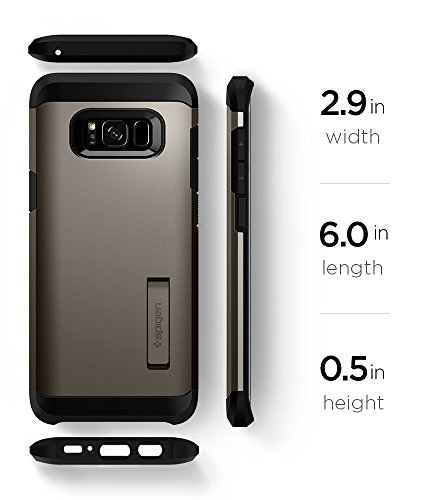 Spigen Tough Armor Galaxy S8 Case with Reinforced Kickstand and Heavy Duty Protection and Air Cushion Technology for Samsung Galaxy S8 (2017) - Gunmetal by Spigen (Image #9)