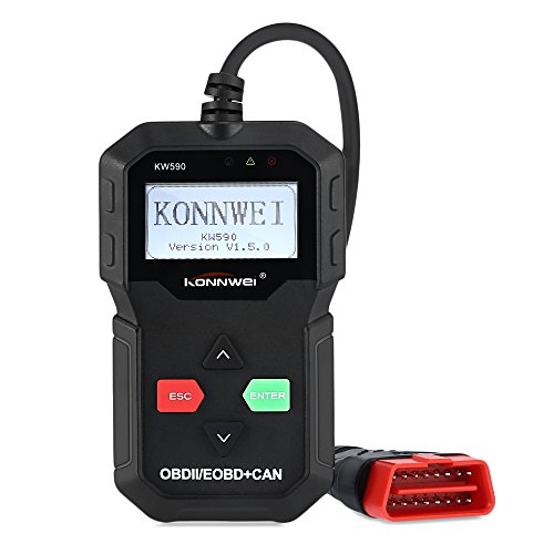 AUTOLOVER KW590 OBD II OBD2 Car Code Reader Automotive Computer Diagnostic Scan tool Check Auto Engine Light Fault Code Scanner for OBDII Vehicle Auto Engine Computer