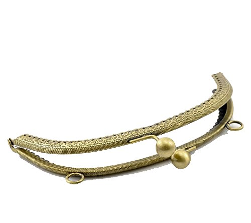 1 Metal Frames Snap Clasp Arch Pattern Style Purse Antiqued Brass 6 Inches By 3-4/8 Inches Purse Frame
